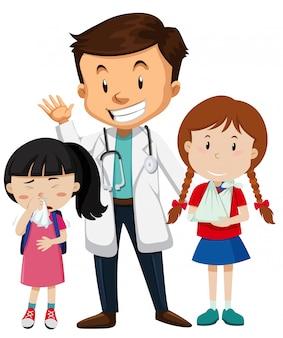 Caractère médecin et patient