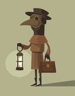Caractère de médecin de la peste dans le masque de corbeau
