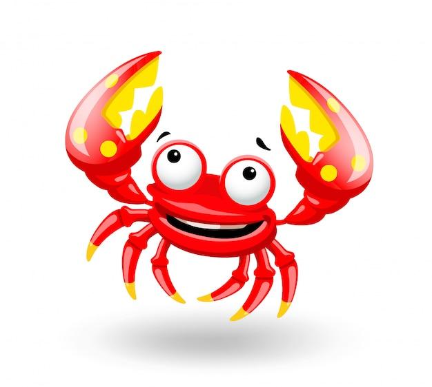 Caractère mignon de crabe drôle.