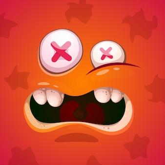Caractère mignon, drôle, monstre fou. helloween illustration