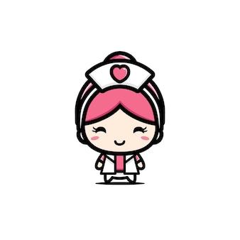 Caractère mignon infirmière