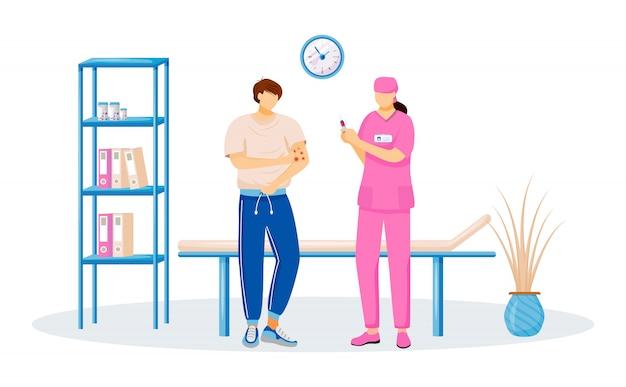 Caractère patient et médecin