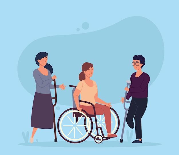 Caractère de personnes handicapées