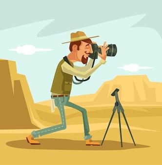 Caractère photographe prenant une photo