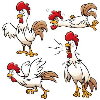 Caractère de poulet de bande dessinée