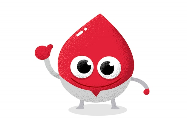 Caractère de sang rouge agissant en tant que médecin.