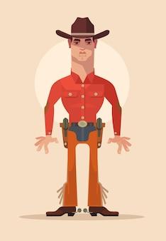 Caractère de shérif cowboy.