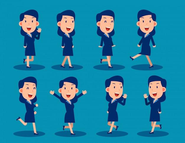 Caractère simple de femme d'affaires à utiliser dans la conception