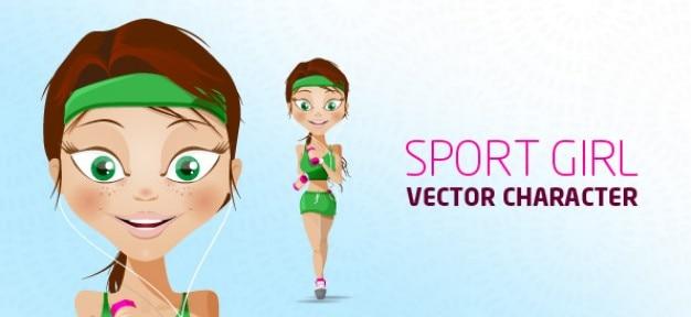 Caractère sport vecteur fille