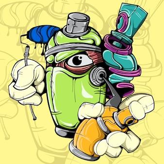Caractère spray can