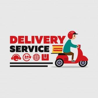 Caractère de travail du service de livraison