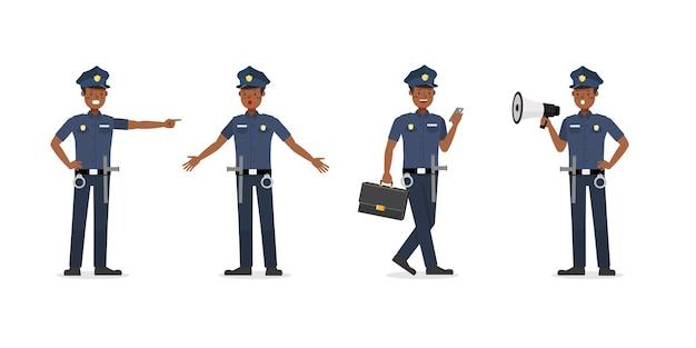 Caractère de travail de policier