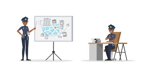 Caractère de travail de policière. n ° 5