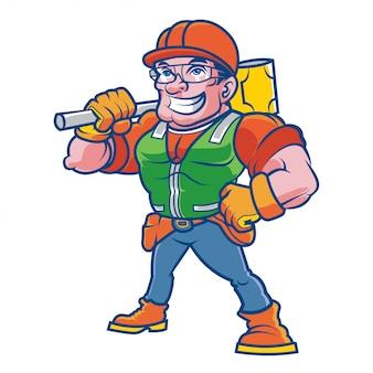 Caractère de travailleur de la construction