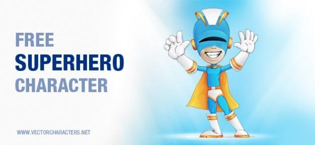 Caractère vectoriel super-héros