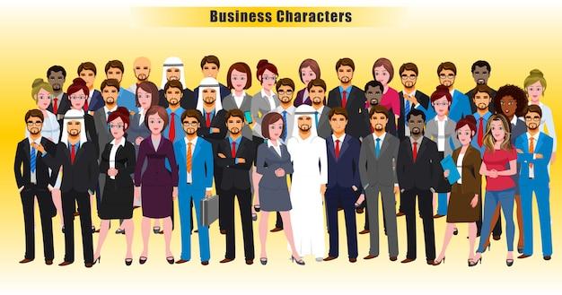 Caractères d'affaires