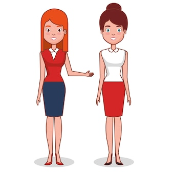 Caractères avatars femmes couple