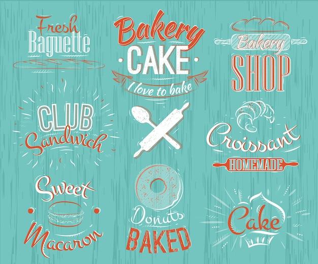 Caractères de boulangerie rétro