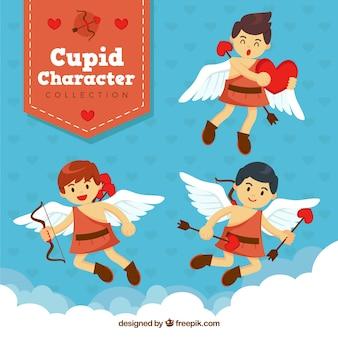 Caractères cupidon mignon prêt pour saint valentin