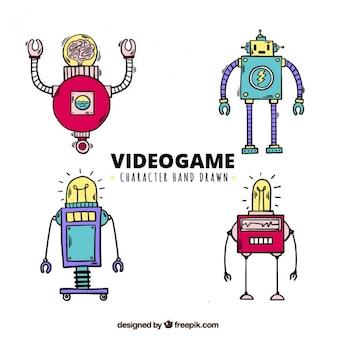 Caractères dessinées à la main pour les jeux vidéo