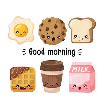 Caractères du petit déjeuner
