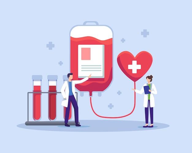 Caractères masculins et féminins de médecins dans le laboratoire de don de sang