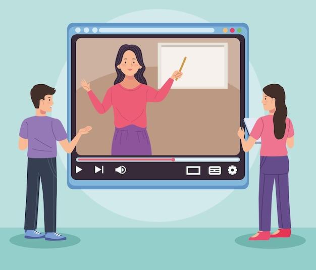 Caractères de professeur et d'étudiants