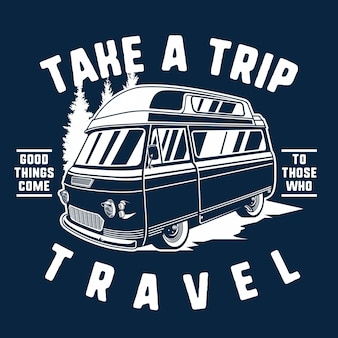 Caravane aventure vintage