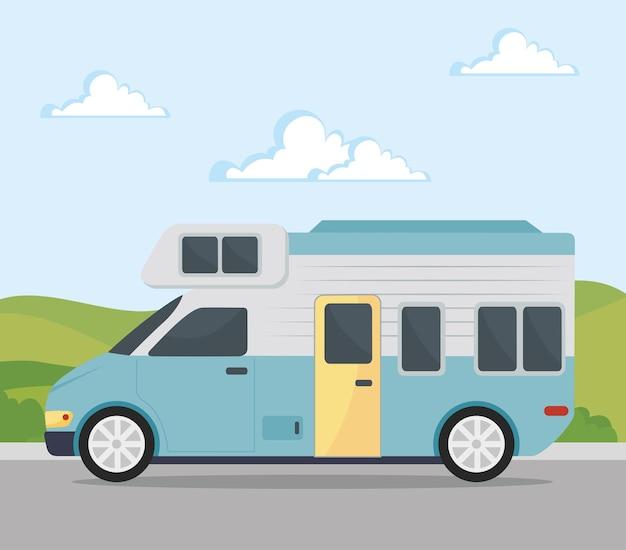Caravane bleue