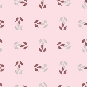 Cardamome modèle sans couture sur fond rose. ornement de croquis de plante mignon. modèle de texture géométrique pour le tissu.