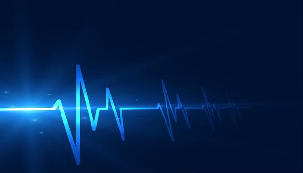 Cardiographe lignes de rythme cardiaque design médical fond de soins de santé