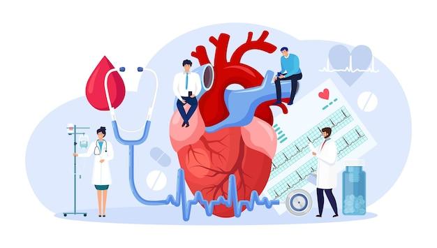 Cardiologie, diagnostic cardiaque cardiovasculaire. un médecin cardiologue diagnostique une maladie cardiaque, un examen médical. recherche en transplantation, crise cardiaque, hypertension, diabète