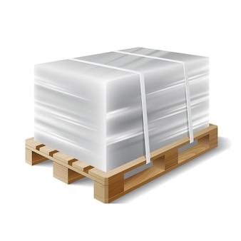Cargo sur une palette en bois