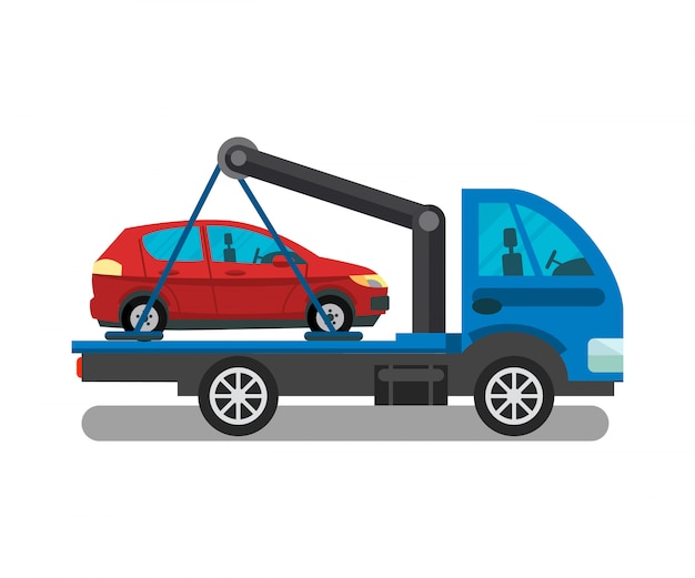 Cargo transportation service flat illustration