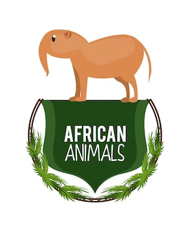 Caricature d'animaux africains