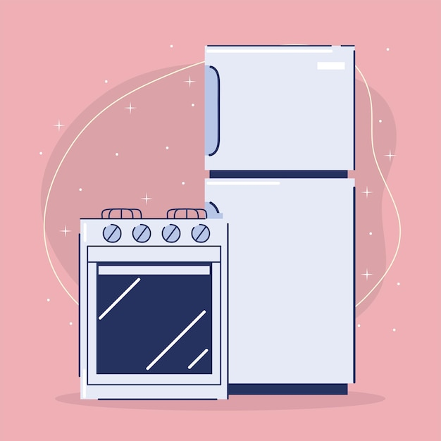 Caricature d'appareils ménagers