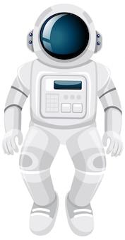 Caricature d'astronaute isolé sur fond blanc