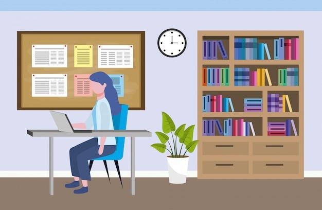 Caricature d'avatar de femme d'affaires