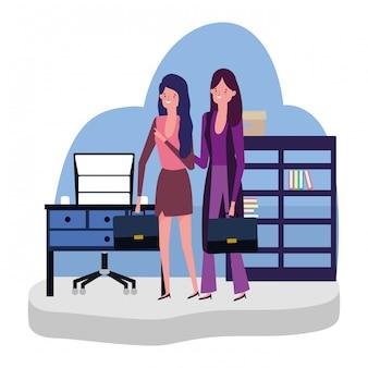 Caricature d'avatar de femmes d'affaires