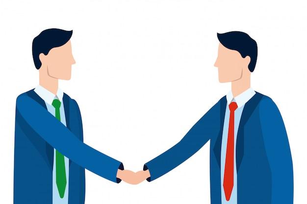 Caricature d'avatar d'hommes d'affaires réussie