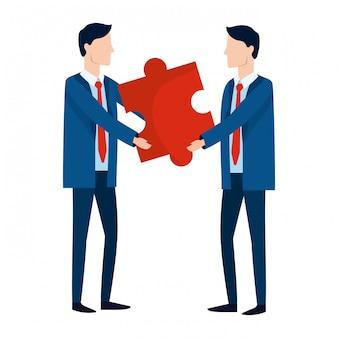 Caricature d'avatar d'hommes d'affaires réussis