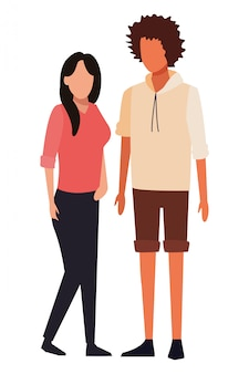 Caricature d'avatars de couple