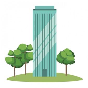 Caricature de bâtiment réel