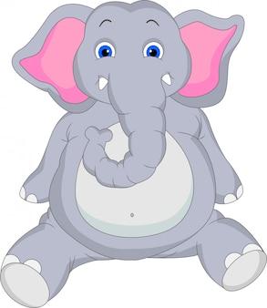 Caricature de bébé éléphant