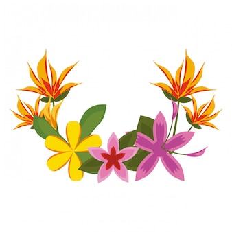 Caricature de belles fleurs