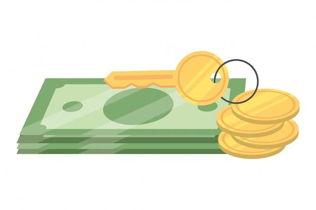 Caricature de billets d'argent