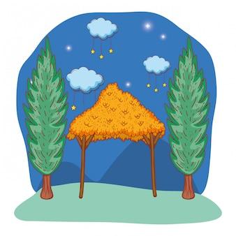 Caricature en bois