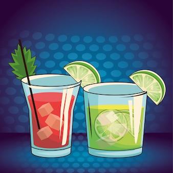 Caricature de boissons alcoolisées