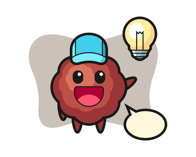 Caricature de boulettes de viande à l'idée