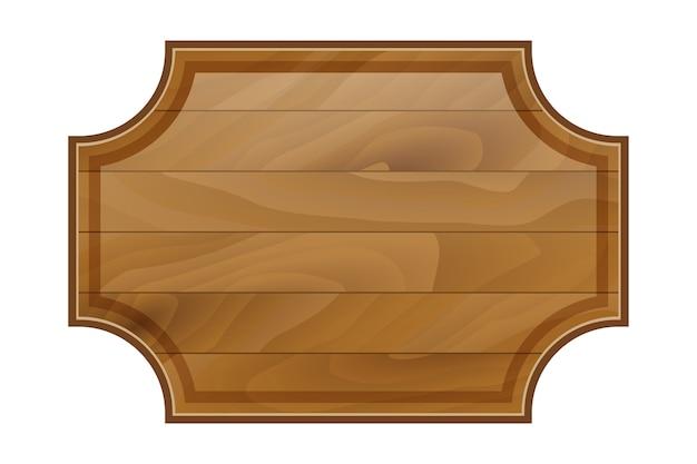 Caricature de cadre de planche de bois